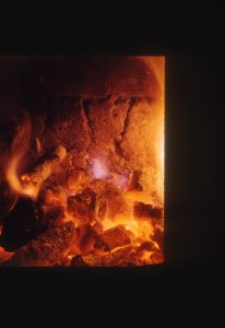 photograph of red coals