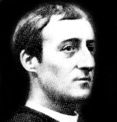 a photograph of Hopkins's face in profile
